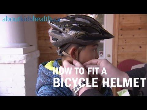 How to fit a bicycle helmet on your child / Comment ajuster le casque de vélo de votre enfant