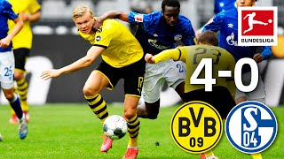 Borussia Dortmund vs. FC Schalke 04 I 4-0 I Haaland, Guerreiro & Hazard Goals in Revierderby Win