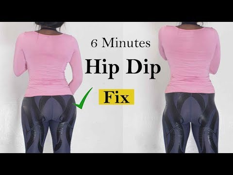 6 Minutes WIDER HIPS Workout to fix hip dips| how to fix hip dip At home