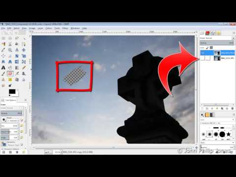 GIMP 2.8 Fuzzy Selection Tool