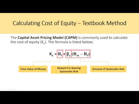 Estimating Cost Of Equity For WACC - DCF Model Insights