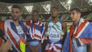 WCH 2017 London– Team Great Britain 4X100 Metres Gold