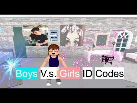 ROBLOX | Welcome to Bloxburg:💙Boys V.s. Girls💖 ID Codes