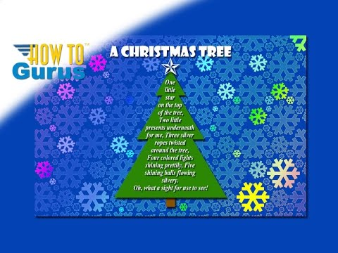 How to make a Christmas Tree Poem Card Photoshop Elements 2018 15 14 13 12 11 Tutorial