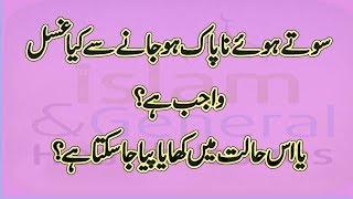 islamic information in urdu ehtelam ke baad khana peena jaiz hai BY islam and general health issues