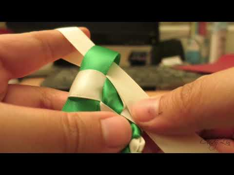 Easy Tutorial: Two-Colored Ribbon Lei