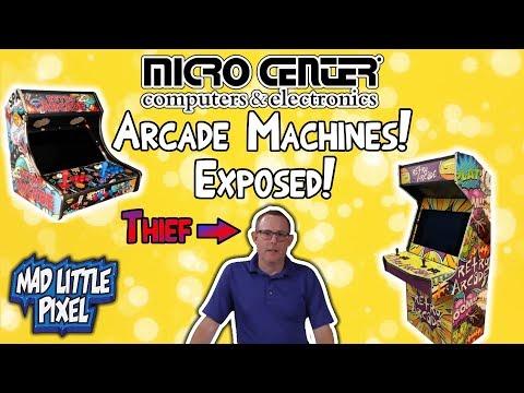 Micro Center Arcade Bartop & Cabinet Kits! Exposed! Stole