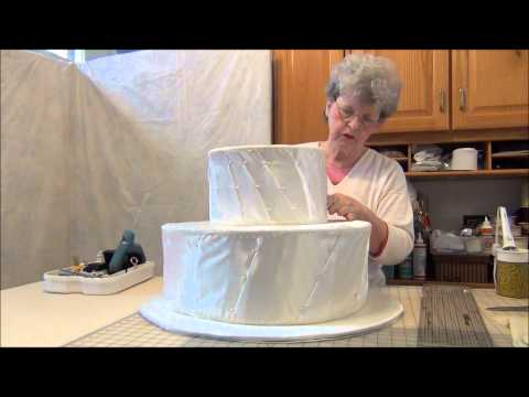 HOW TO MAKE MY BIG FAT FAUX WEDDING CAKE SHOWER CENTERPIECE- PART 1