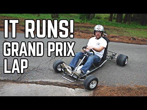 88 MPH DeLorean Kart Build Pt. 2   We Have a Runner!