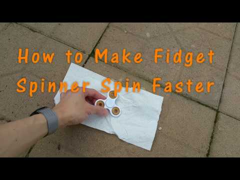 How to Make Fidget Spinner Spin Faster