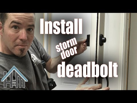 How to install replace deadbolt for storm door. Easy! Home Mender