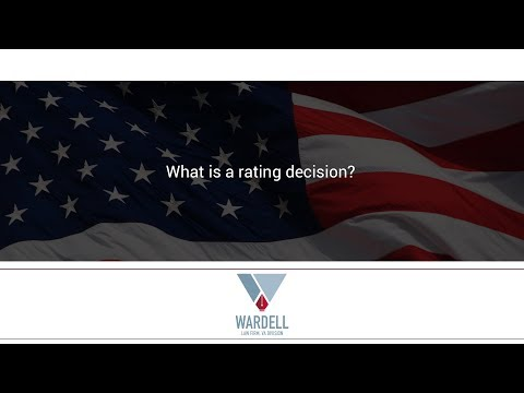 What is a rating decision?