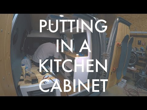 Installing A Custom Kitchen Cabinet In A Van!