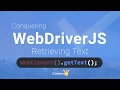 02   Retrieve text using getText in webdriver JS