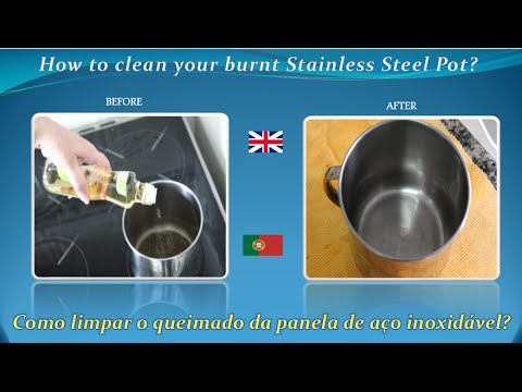 DIY How to clean easily a burnt Stainless Steel Pot or Pan  without Chemicals