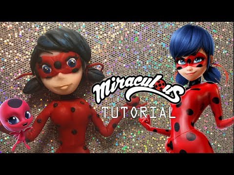 HOW TO MAKE MIRACULOUS LADY BUG TUTORIAL  | CLAY CRAFT  DIY | CLAY FIGURE | Cup n Cakes Gourmet