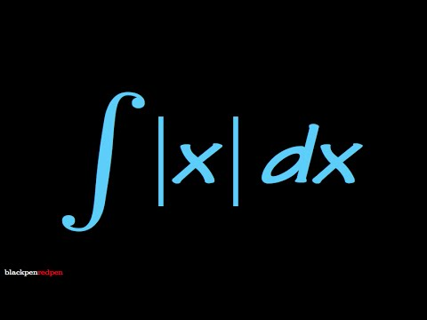 integral of abs(x)