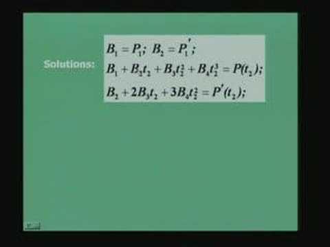 Lecture - 37 Curve Representation