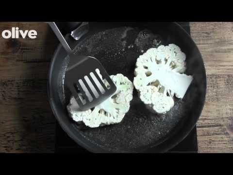 How to make: cauliflower steaks with sauce vierge