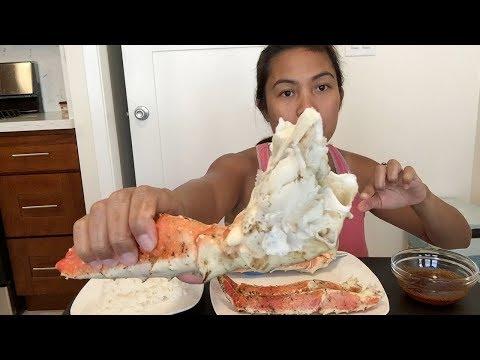 KING crab mukbang (cajun butter sauce)
