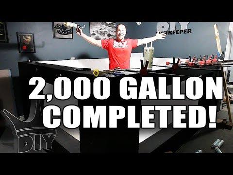 FINISHING THE 2,000 GALLON AQUARIUM! LIVE!!