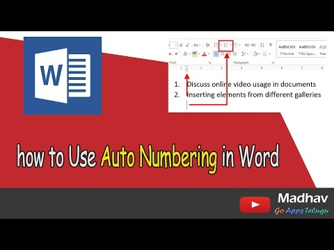 How to Use Auto Numbering in Word