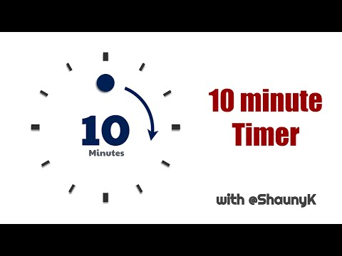 10 Minute Countdown Timer with minute click sounds