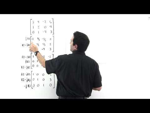 Matrix Row Operations