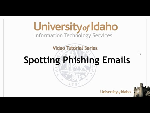 Security - Spotting Phishing Attempts