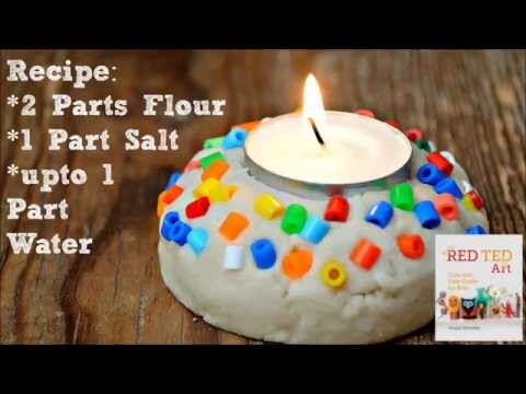 Salt Dough Recipe & Easy Votive Project for Diwali or Christmas