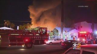 Firefighters, Neighbors Battle Fierce Wind-Whipped Flames