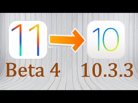 Downgrade iOS 11 Beta 4 to iOS 10.3.3 without iTunes. 1 Click Only