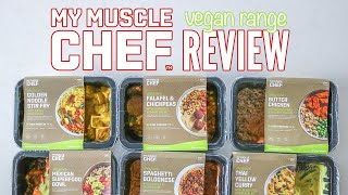 TRYING \u0026 RATING MY MUSCLE CHEF'S NEW VEGAN MEALS *honest review* // meal prep delivery service