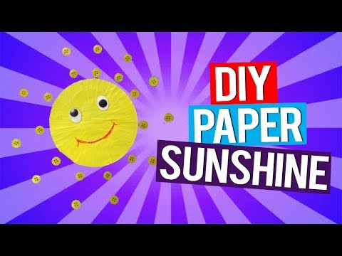 Activchamps: How to make a sunshine paper craft for kids | DIY art and craft for kids |