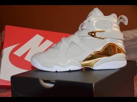 quality design 1d853 3a7bb Jordan 8 Champagne GS Review + On Feet + BONUS!!