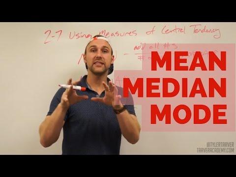 Mean, Median, and Mode // TarverAcademy.com