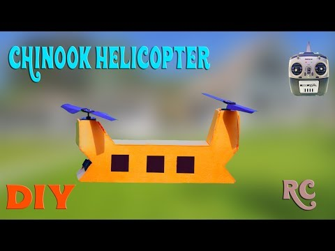 How To Make RC Chinook Helicopter | Bicopter drone at home