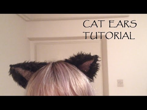 DIY Cat ears (neko ears; nekomimi) TUTORIAL