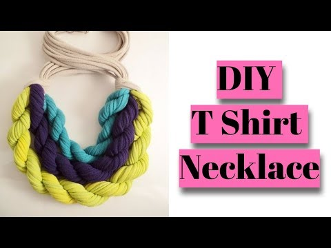 How To Make T Shirt Necklace! Turn Your T Shirts into Jewelry