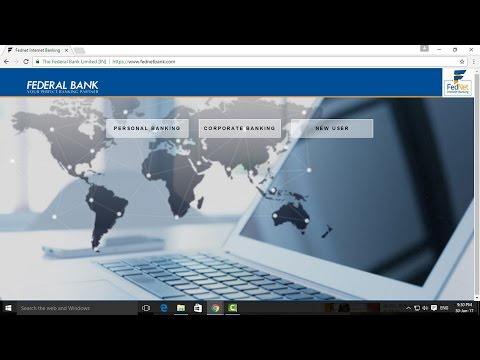 How to Register Federal Bank Internet Banking - Tamil Banking