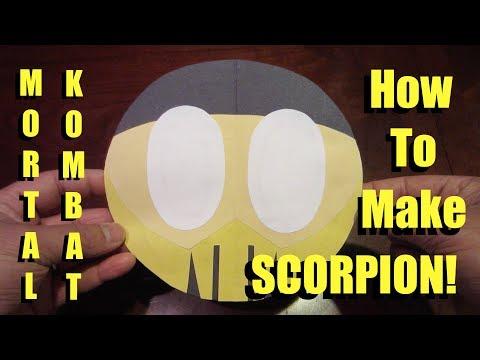 How to Make Mortal Kombat Scorpion: Color Paper Tutorial - Lana3LW