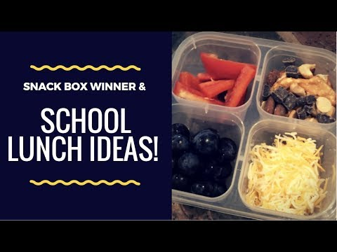 School Lunches & Snack Box Winner!