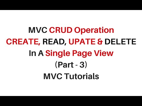 mvc crud operation using jquery json in a single view page c#4.6 (part 3)