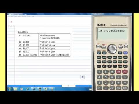 Internal Rate of Return, IRR with CASIO Financial calculator