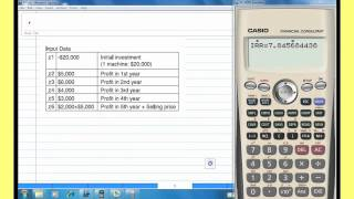 Internal Rate Of Return Irr With Casio Financial Calculator