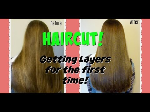 Getting A Haircut At The Salon,  Layers For The First Time!