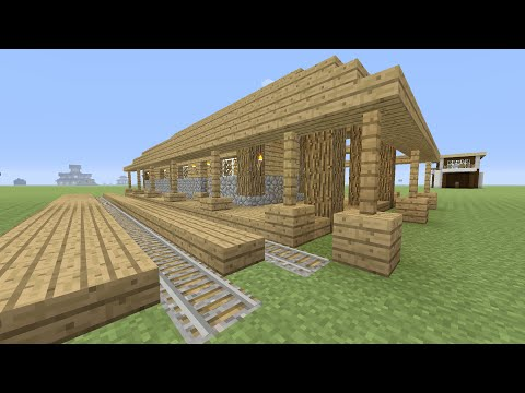 minecraft minecart station tutorial (easy survival build)