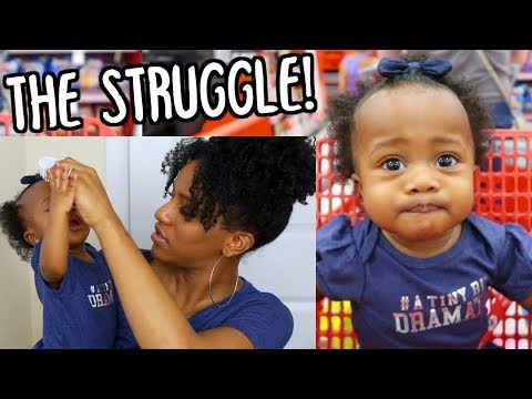 THE STRUGGLE OF DOING MY BABY'S HAIR! MOMMY & BABY HAIR ROUTINE!