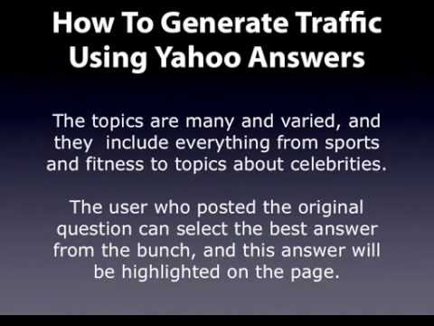 Website Traffic Secrets Part 6 - How To Get Traffic From Yahoo Answers