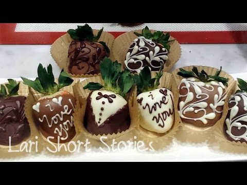 How to make chocolate covered strawberries - Art! by Lari Short Stories